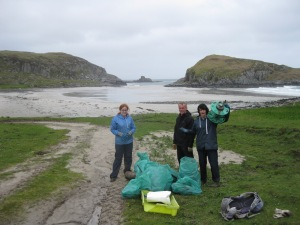 kilvickeon beachclean with glasgow cvs