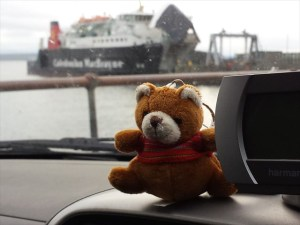 Ginger catching the ferry