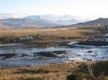 Ice on the beaches at Bunessan