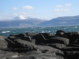 Wintery view from Staffa