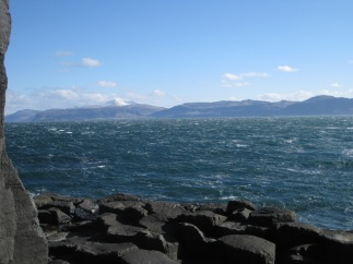 View from Staffa on a winter's day