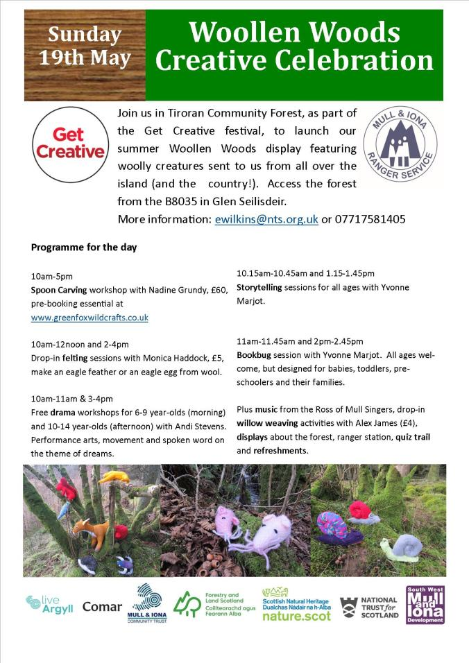 Woollen woods event poster