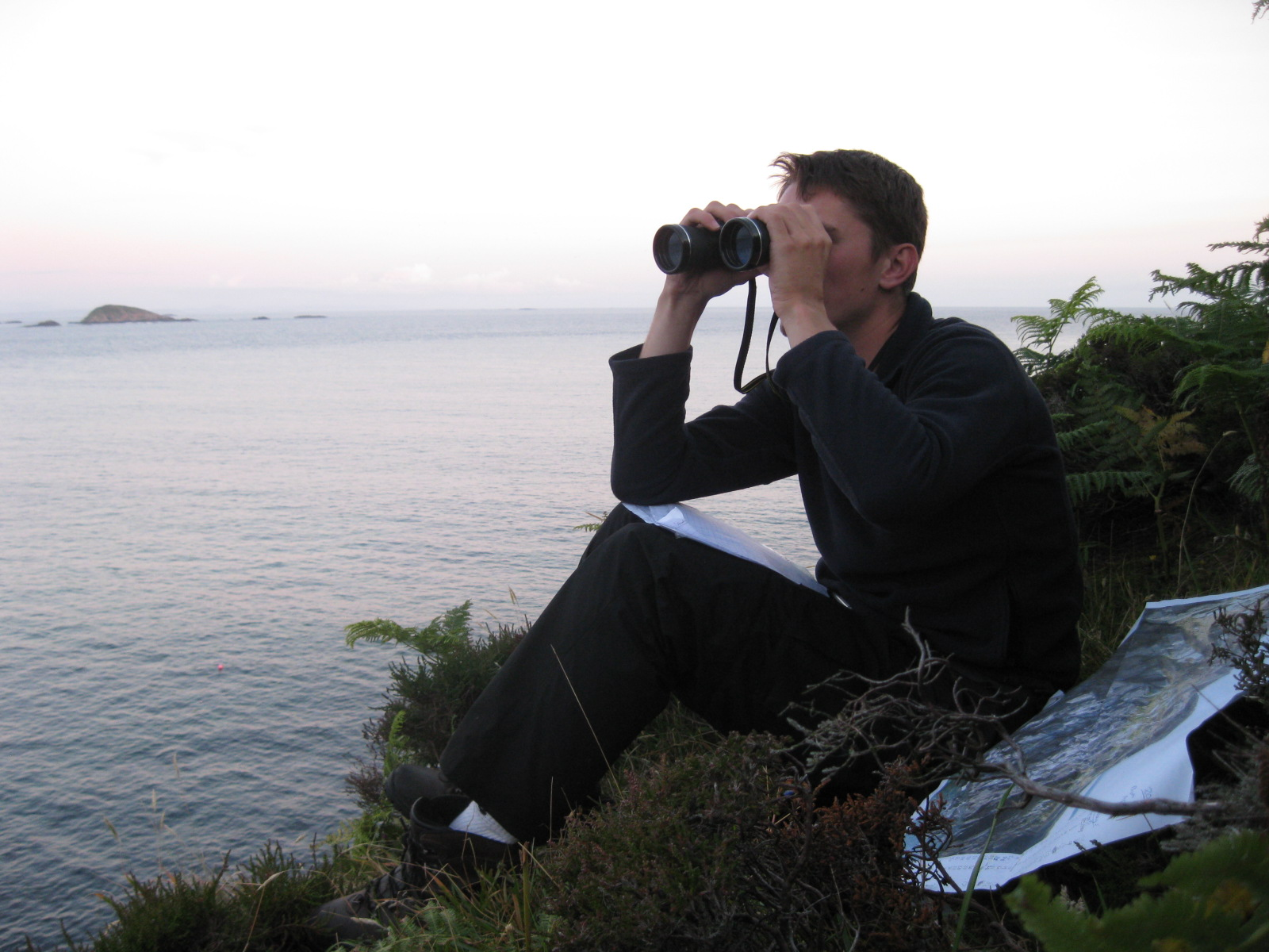 Daniel at pigeon cave